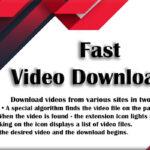 Fast Video Downloader İndir – Full v4.0.0.6